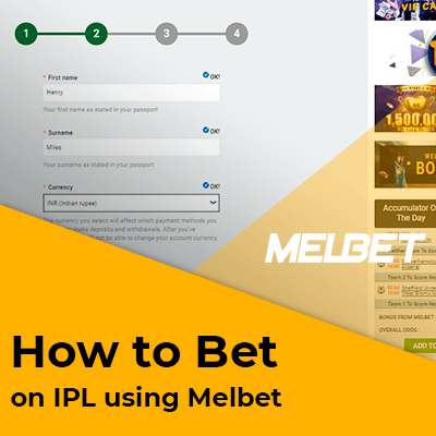 How to bet on IPL using Melbet