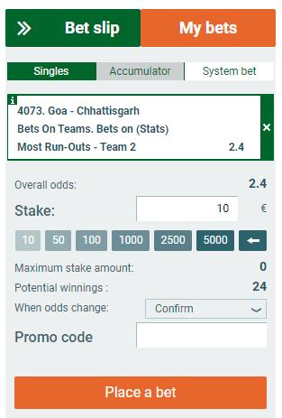 Single Bet