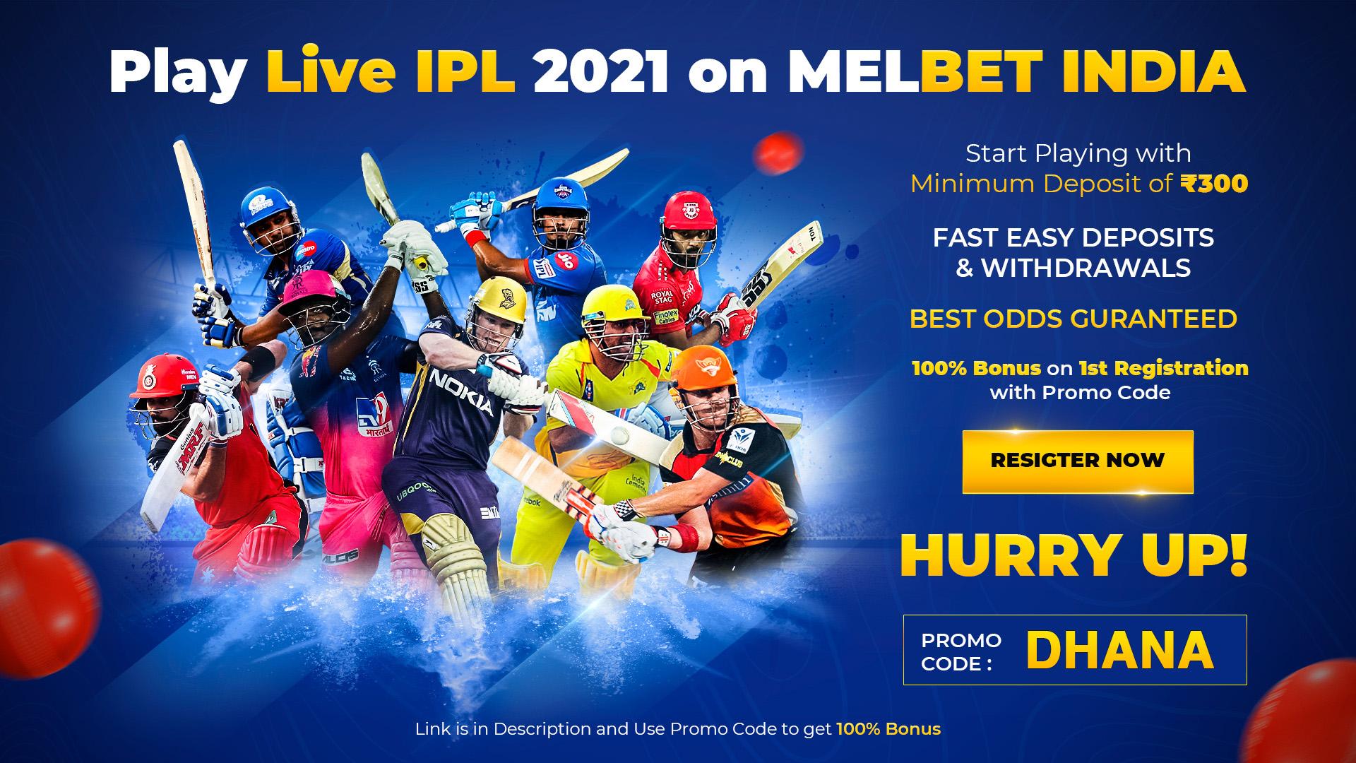 Play Live IPL 2021 on Melbet India